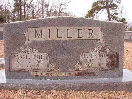 MILLER, JAMES MONROE - Columbia County, Arkansas | JAMES MONROE MILLER - Arkansas Gravestone Photos