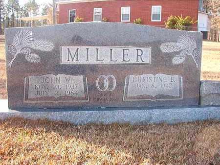 MILLER, JOHN W - Columbia County, Arkansas | JOHN W MILLER - Arkansas Gravestone Photos