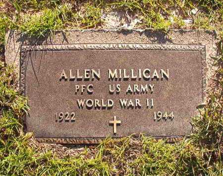 MILLICAN (VETERAN WWII), ALLEN - Columbia County, Arkansas | ALLEN MILLICAN (VETERAN WWII) - Arkansas Gravestone Photos