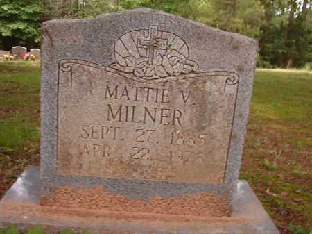 MILNER, MATTIE V - Columbia County, Arkansas | MATTIE V MILNER - Arkansas Gravestone Photos