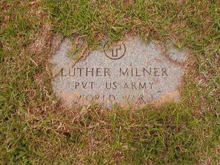 MILNER (VETERAN WWI), LUTHER - Columbia County, Arkansas | LUTHER MILNER (VETERAN WWI) - Arkansas Gravestone Photos