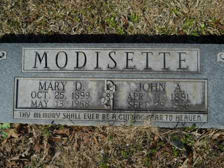 MODISETTE, MARY D - Columbia County, Arkansas | MARY D MODISETTE - Arkansas Gravestone Photos