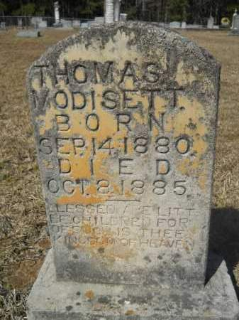 MODISETT, THOMAS - Columbia County, Arkansas | THOMAS MODISETT - Arkansas Gravestone Photos