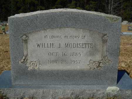 MODISETTE, WILLIE J - Columbia County, Arkansas | WILLIE J MODISETTE - Arkansas Gravestone Photos