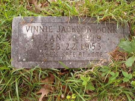 JACKSON MONK, VINNIE - Columbia County, Arkansas | VINNIE JACKSON MONK - Arkansas Gravestone Photos