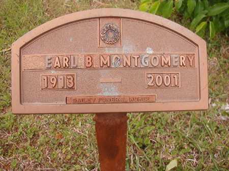 MONTGOMERY, EARL B - Columbia County, Arkansas | EARL B MONTGOMERY - Arkansas Gravestone Photos