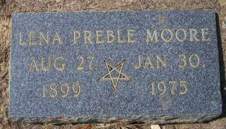 PREBLE MOORE, LENA - Columbia County, Arkansas | LENA PREBLE MOORE - Arkansas Gravestone Photos