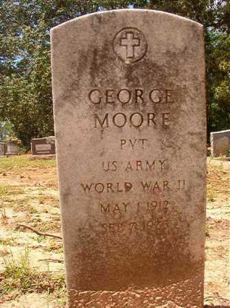 MOORE (VETERAN WWII), GEORGE - Columbia County, Arkansas | GEORGE MOORE (VETERAN WWII) - Arkansas Gravestone Photos