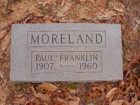 MORELAND, PAUL FRANKLIN - Columbia County, Arkansas | PAUL FRANKLIN MORELAND - Arkansas Gravestone Photos