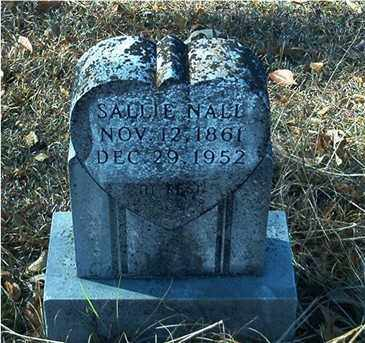 NALL, SALLIE - Columbia County, Arkansas | SALLIE NALL - Arkansas Gravestone Photos