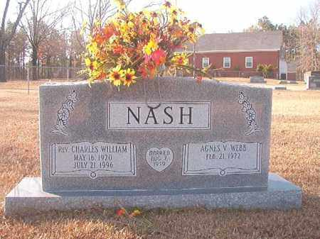 NASH, REV, CHARLES WILLIAM - Columbia County, Arkansas | CHARLES WILLIAM NASH, REV - Arkansas Gravestone Photos