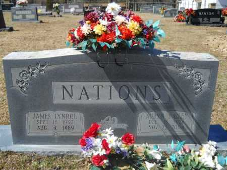 NATIONS, JAMES LYNDOL - Columbia County, Arkansas | JAMES LYNDOL NATIONS - Arkansas Gravestone Photos
