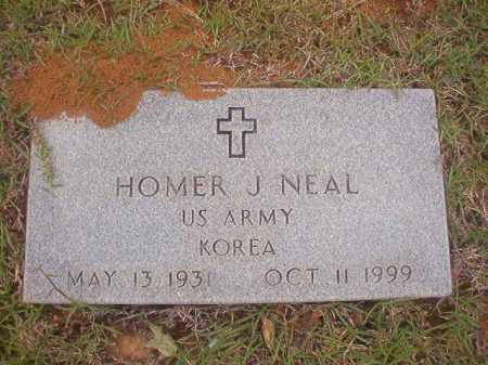 NEAL (VETERAN KOR), HOMER J - Columbia County, Arkansas   HOMER J NEAL (VETERAN KOR) - Arkansas Gravestone Photos