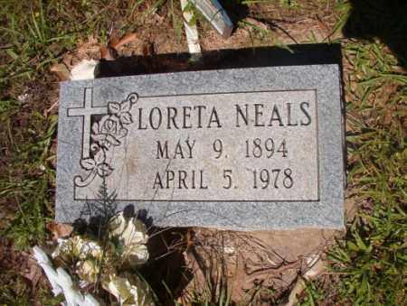NEALS, LORETA - Columbia County, Arkansas   LORETA NEALS - Arkansas Gravestone Photos