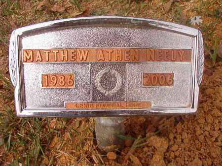 NEELY, MATTHEW ATHEN - Columbia County, Arkansas | MATTHEW ATHEN NEELY - Arkansas Gravestone Photos