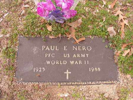 NERO (VETERAN WWII), PAUL E - Columbia County, Arkansas | PAUL E NERO (VETERAN WWII) - Arkansas Gravestone Photos