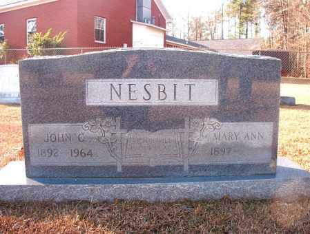 NESBIT, MARY ANN - Columbia County, Arkansas | MARY ANN NESBIT - Arkansas Gravestone Photos