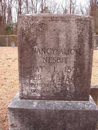 NESBIT, NANCY ALICE - Columbia County, Arkansas | NANCY ALICE NESBIT - Arkansas Gravestone Photos