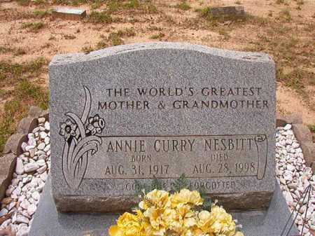 CURRY NESBITT, ANNIE - Columbia County, Arkansas | ANNIE CURRY NESBITT - Arkansas Gravestone Photos