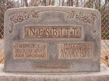 NESBITT, HENRY L - Columbia County, Arkansas | HENRY L NESBITT - Arkansas Gravestone Photos