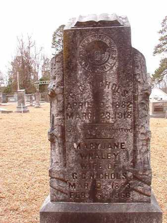 WHALEY NICHOLS, MARY JANE - Columbia County, Arkansas | MARY JANE WHALEY NICHOLS - Arkansas Gravestone Photos