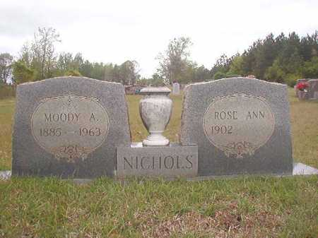 NICHOLS, MOODY A - Columbia County, Arkansas | MOODY A NICHOLS - Arkansas Gravestone Photos