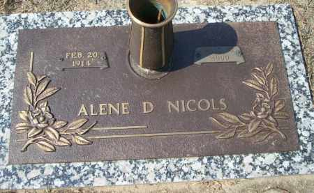 NICOLS, ALENE D - Columbia County, Arkansas | ALENE D NICOLS - Arkansas Gravestone Photos