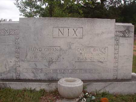 BARGE NIX, CARRIE - Columbia County, Arkansas | CARRIE BARGE NIX - Arkansas Gravestone Photos