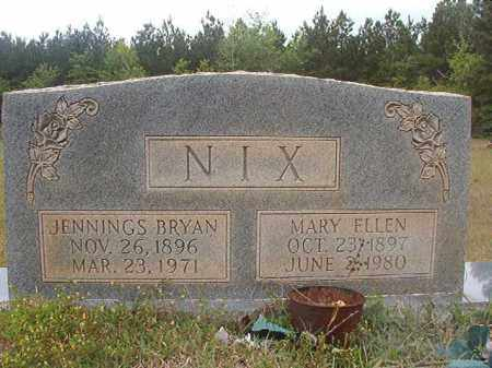 NIX, JENNINGS BRYAN - Columbia County, Arkansas | JENNINGS BRYAN NIX - Arkansas Gravestone Photos
