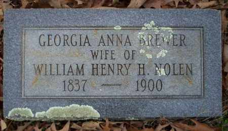 BREWER NOLEN, GEORGIA ANNA - Columbia County, Arkansas | GEORGIA ANNA BREWER NOLEN - Arkansas Gravestone Photos