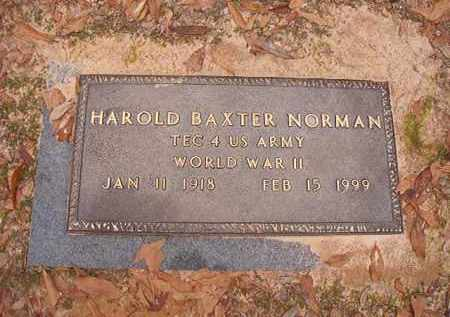 NORMAN (VETERAN WWII), HAROLD BAXTER - Columbia County, Arkansas | HAROLD BAXTER NORMAN (VETERAN WWII) - Arkansas Gravestone Photos