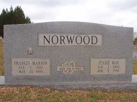 NORWOOD, JESSIE MAY - Columbia County, Arkansas | JESSIE MAY NORWOOD - Arkansas Gravestone Photos