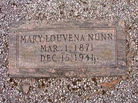 NUNN, MARY LOUVENA - Columbia County, Arkansas | MARY LOUVENA NUNN - Arkansas Gravestone Photos