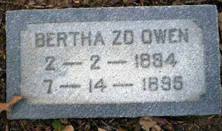 OWEN, BERTHA ZO - Columbia County, Arkansas | BERTHA ZO OWEN - Arkansas Gravestone Photos