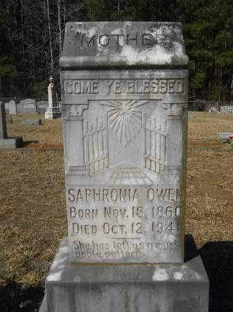 OWEN, SAPHRONIA - Columbia County, Arkansas | SAPHRONIA OWEN - Arkansas Gravestone Photos