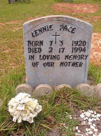 PACE, LENNIE - Columbia County, Arkansas | LENNIE PACE - Arkansas Gravestone Photos