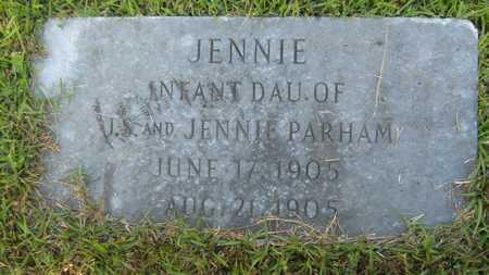 PARHAM, JENNIE - Columbia County, Arkansas | JENNIE PARHAM - Arkansas Gravestone Photos