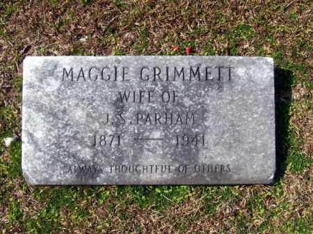 GRIMMETT PARHAM, MAGGIE - Columbia County, Arkansas | MAGGIE GRIMMETT PARHAM - Arkansas Gravestone Photos