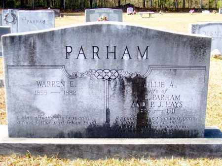 PARHAM, WARREN E - Columbia County, Arkansas | WARREN E PARHAM - Arkansas Gravestone Photos