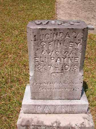 FINLEY PAYNE, LUCINDA - Columbia County, Arkansas | LUCINDA FINLEY PAYNE - Arkansas Gravestone Photos