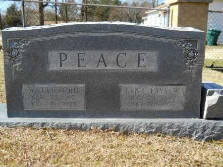 PEACE, LENA FAYE W - Columbia County, Arkansas | LENA FAYE W PEACE - Arkansas Gravestone Photos