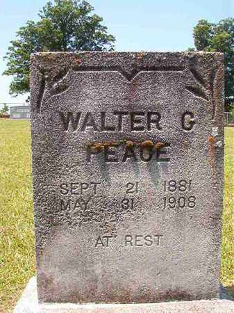 PEACE, WALTER G - Columbia County, Arkansas | WALTER G PEACE - Arkansas Gravestone Photos