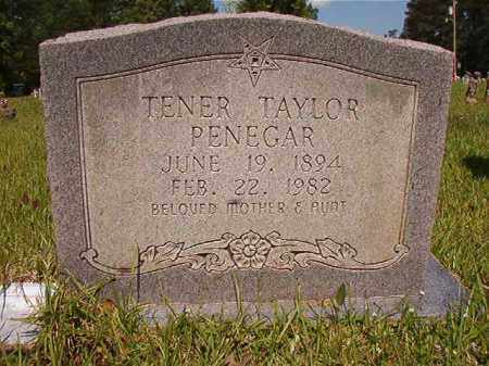 PENEGAR, TENER TAYLOR - Columbia County, Arkansas | TENER TAYLOR PENEGAR - Arkansas Gravestone Photos