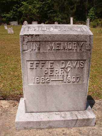 DAVIS PERRY, EFFIE - Columbia County, Arkansas | EFFIE DAVIS PERRY - Arkansas Gravestone Photos