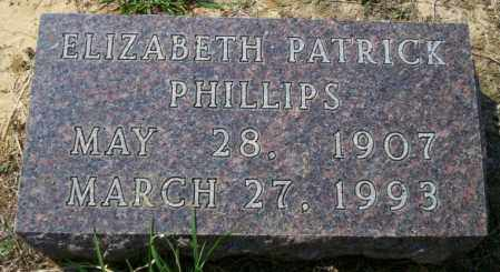 PATRICK PHILLIPS, ELIZABETH - Columbia County, Arkansas | ELIZABETH PATRICK PHILLIPS - Arkansas Gravestone Photos