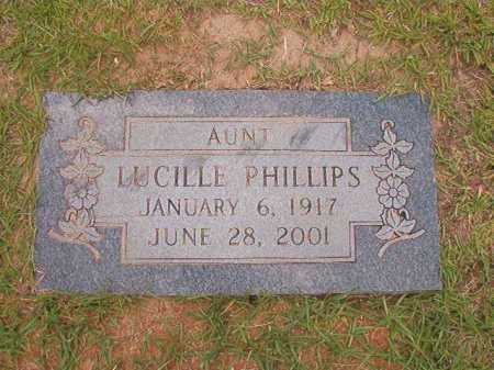 PHILLIPS, LUCILLE - Columbia County, Arkansas | LUCILLE PHILLIPS - Arkansas Gravestone Photos
