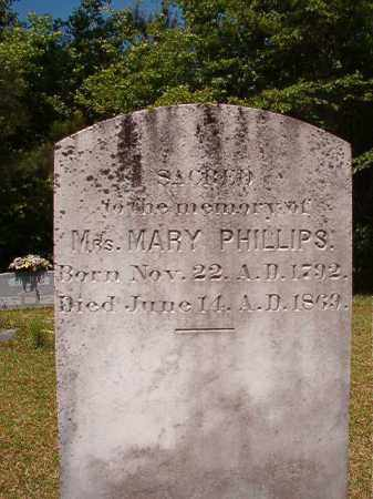 PHILLIPS, MARY - Columbia County, Arkansas | MARY PHILLIPS - Arkansas Gravestone Photos