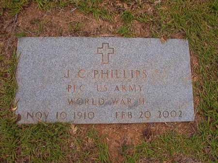 PHILLIPS (VETERAN WWII), J C - Columbia County, Arkansas | J C PHILLIPS (VETERAN WWII) - Arkansas Gravestone Photos