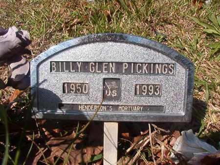 PICKINGS, BILLY GLEN - Columbia County, Arkansas | BILLY GLEN PICKINGS - Arkansas Gravestone Photos