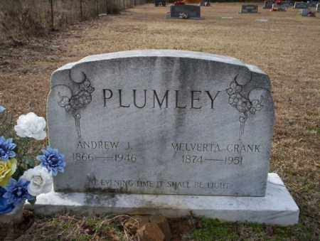 CRANK PLUMLEY, MELVERTA - Columbia County, Arkansas | MELVERTA CRANK PLUMLEY - Arkansas Gravestone Photos